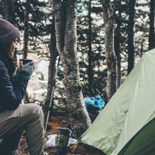 Camping ja majoitustilat kuvituskuva